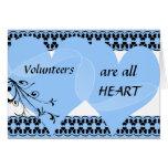 Los voluntarios son todo el corazón le agradecen c tarjeta
