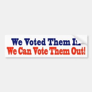 Los votamos adentro que podemos votarlos hacia fue pegatina de parachoque