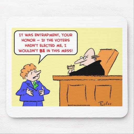 los votantes del juez de la colocación de trampas  tapete de ratones