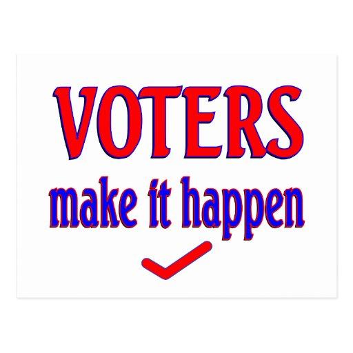 Los votantes hacen que sucede tarjeta postal