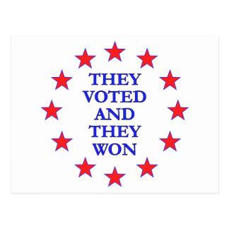 Los votaron ganaron postal