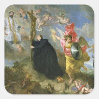 Los votos del santo Aloysius de Gonzaga Pegatina Cuadrada