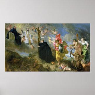 Los votos del santo Aloysius de Gonzaga Póster