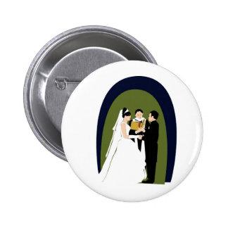 Los votos la novia el novio y el Officiant Pin