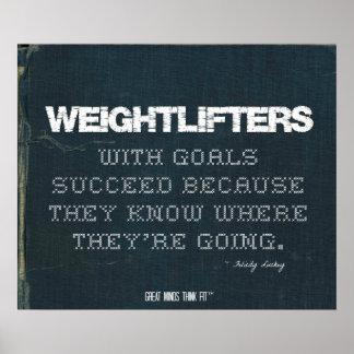 Los Weightlifters con metas tienen éxito en dril d Posters
