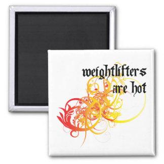 Los Weightlifters son calientes Imán Cuadrado