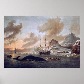 Los whalers holandeses de Abraham Storck acercan a Impresiones