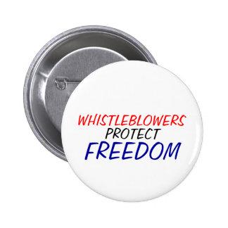 Los Whistleblowers protegen la libertad Pin