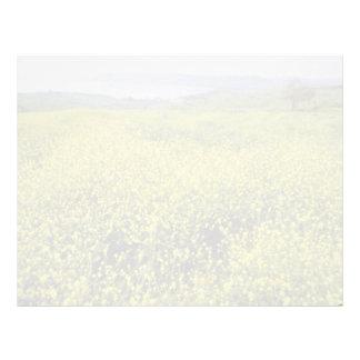 Los Wildflowers de la cal sobre el mar de Galilea, Plantilla De Membrete