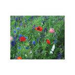 los wildflowers me hacen 3 felices impresión en lienzo estirada