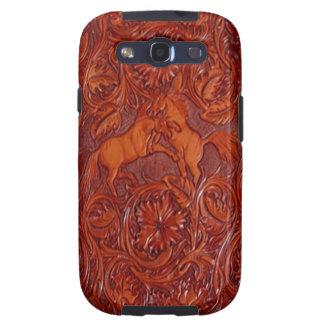 los wildhorses Samsung de cuero encajonan Galaxy S3 Carcasas