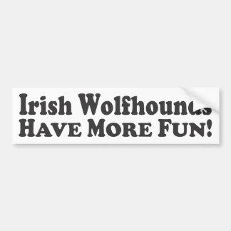 ¡Los Wolfhounds irlandeses se divierten más! - Peg Pegatina Para Auto
