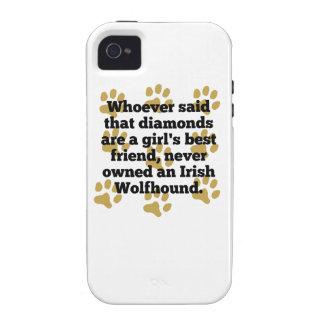 Los Wolfhounds irlandeses son el mejor amigo de un iPhone 4/4S Carcasas