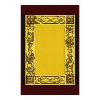 Los Woodcarvings ingleses de la restauración inspi Papeleria Personalizada