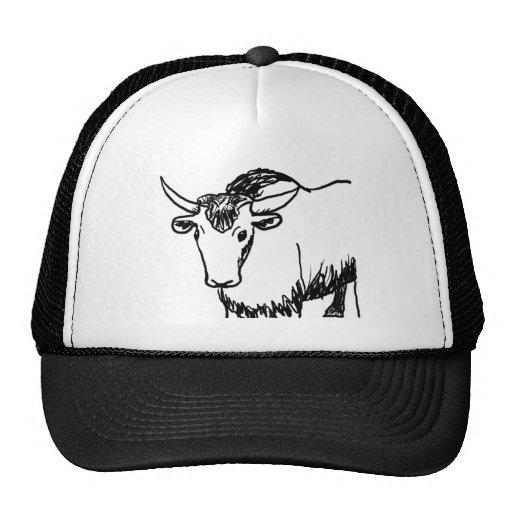 Los yacs resumen en el negro, búfalo del bisonte d gorros