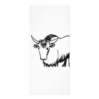 Los yacs resumen en el negro, búfalo del bisonte d tarjeta publicitaria personalizada