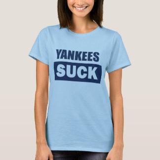 Los yanquis chupan la camiseta azul de las señoras