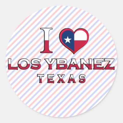 Los Ybanez, Texas Classic Round Sticker
