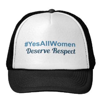 Los #YesAllWomen merecen respecto Gorros
