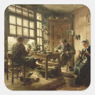 Los zapateros, 1880 colcomania cuadrada