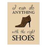 Los zapatos de la derecha