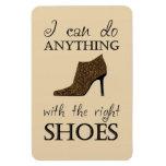 Los zapatos de la derecha imanes rectangulares