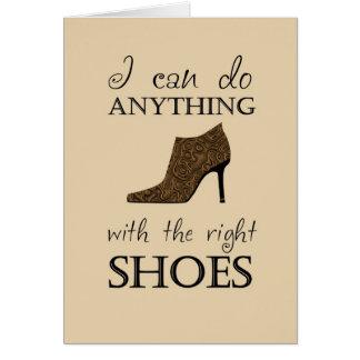 Los zapatos de la derecha tarjeta de felicitación