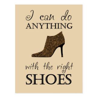 Los zapatos de la derecha postal