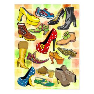 Los zapatos de las mujeres postales