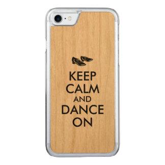 Los zapatos del baile guardan calma y bailan funda para iPhone 7