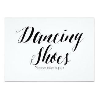 """Los """"zapatos del baile satisfacen toman muestra invitación 5"""" x 7"""""""