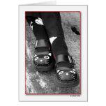 Los zapatos del gato se hacen para Dancin Tarjetón