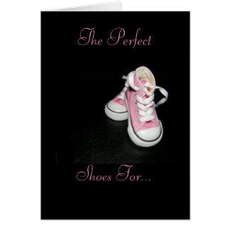 Los zapatos del papá tarjeta de felicitación