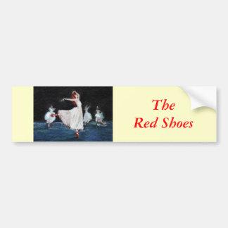 Los zapatos del rojo pegatina para auto