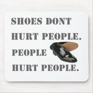 los zapatos no dañan a gente tapete de ratón