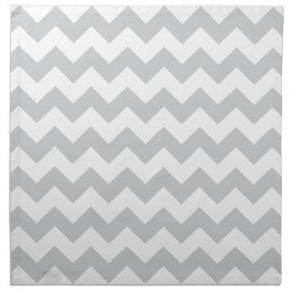 Los zigzags grises pálidos elegantes zigzaguean mo servilletas imprimidas