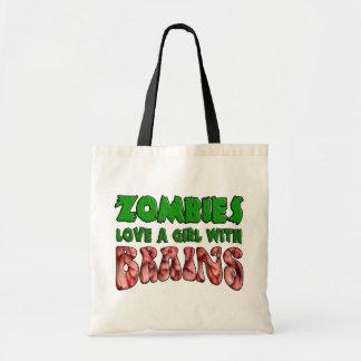 Los zombis aman a un chica con los cerebros bolsa tela barata