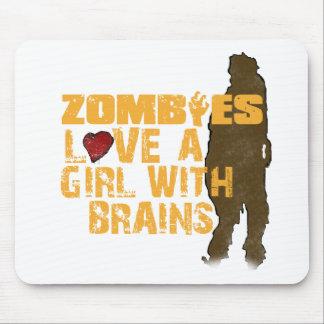 Los zombis aman a un chica alfombrillas de raton