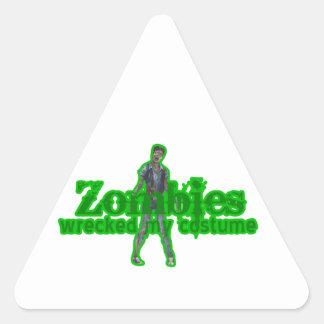 Los zombis arruinaron mi traje - Halloween Pegatina Triangular