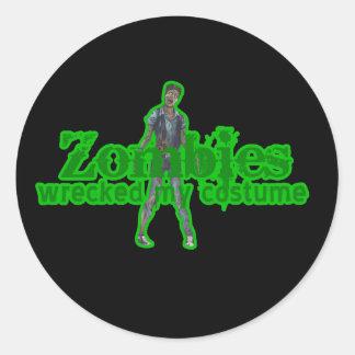 Los zombis arruinaron mi traje - Halloween Pegatina Redonda