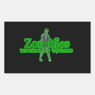 Los zombis arruinaron mi traje - Halloween Pegatina Rectangular