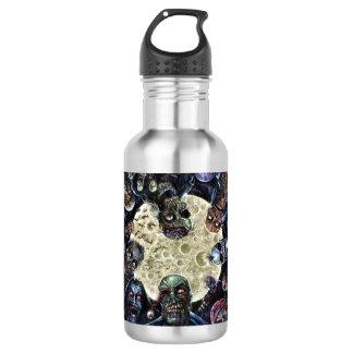 Los zombis atacan (la horda del zombi) botella de agua de acero inoxidable
