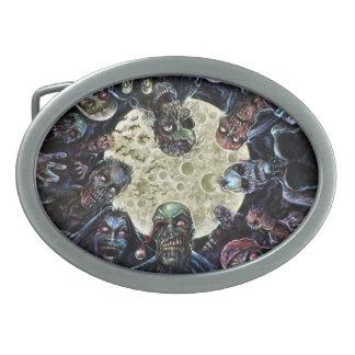 Los zombis atacan (la horda del zombi) hebillas cinturón ovales
