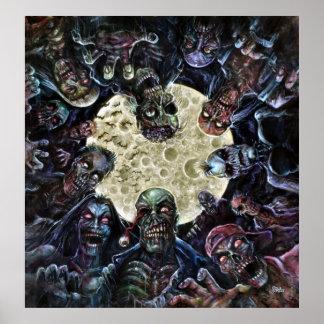 Los zombis atacan (la horda del zombi) póster