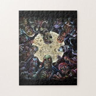 Los zombis atacan (la horda del zombi) puzzle