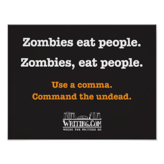 Los zombis comen a gente poster