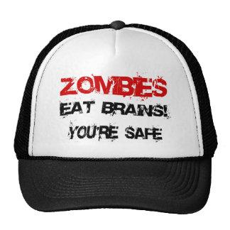 ¡Los zombis comen cerebros! Gorros
