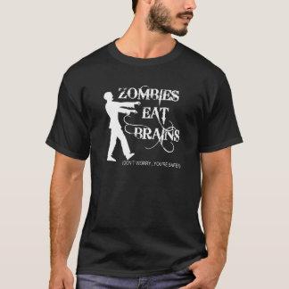 ¡Los zombis comen cerebros… no se preocupan, usted Playera