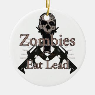 Los zombis comen la ventaja adorno redondo de cerámica