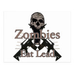 Los zombis comen la ventaja tarjetas postales